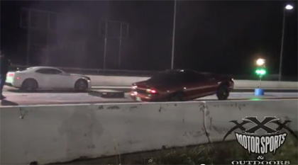 2 Camaro SS Drag Race with sick wheelstand