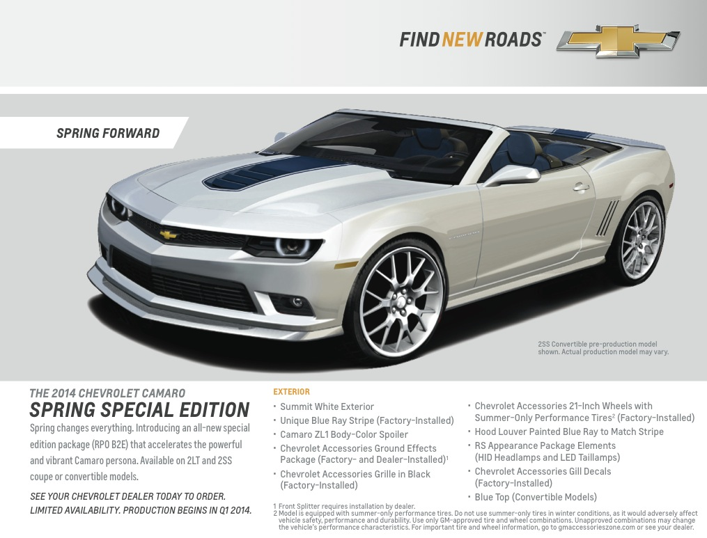 Chevy Announces Camaro Spring Edition and Deep Magenta Paint