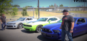 2015 Dodge Challenger R/T vs Ford Mustang GT vs Chevy Camaro SS 0-60 MPH Mashup Review