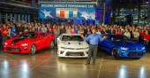 GM rolling out the new 2016 Camaro in Lansing Today