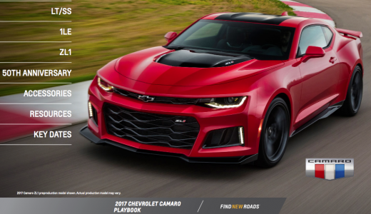 Official 2017 Camaro Playbook Released