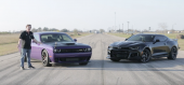 Hellcat Challenger vs ZL1 Camaro Roll-on Race – Hellcat Faster Say What?