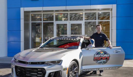 JEFF GORDON DRIVES CAMARO ZL1 PACE CAR AT DAYTONA 500