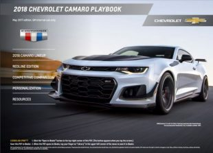 Official 2018 Camaro Playbook